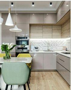 30 Modern Kitchen Interior Ideas To Inspire You Kitchen Cabinets Upper Idea Kitchen Room Design, Modern Kitchen Design, Home Decor Kitchen, Interior Design Kitchen, Kitchen Living, Home Kitchens, Kitchen Ideas, Kitchen Designs, Kitchen Inspiration