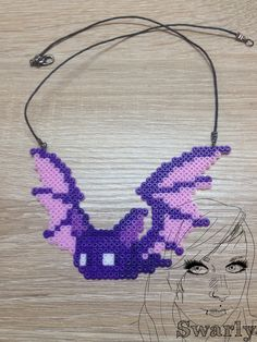 Bat-Necklace Perler