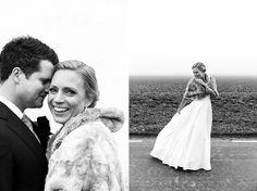Wedding photographer Sanna Dolck. Malmö, Sweden. Wedding portraits. Bröllop. Wedding. Winter wedding. Wedding dress fur, fur coat. Holmanäs gård.