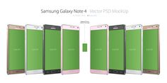 Galaxy Note 4 3/4 PSD MockUp