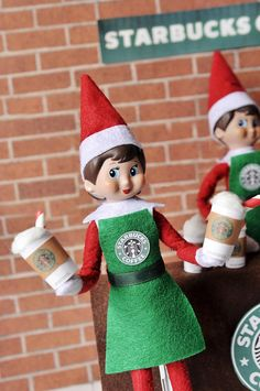 Ever wondered how the Elves get all of their energy to make toys for millions of children all around the world on one single night? They have their own Starbucks of course! ☕️❄ ****Includes one Starbucks apron with one Starbucks cup.***** ***Some material/Fabric that I use