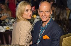Fundraising bash: She posed with Scott Fifer, and looked casual in a jumper and…