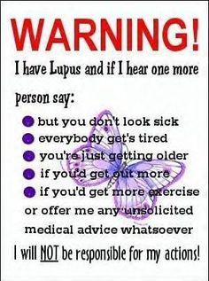 Lupus awareness sucks
