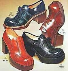 Werbung /Bilder (smb: these ankle busters caused me so much pain in high school. Advertising Pictures, Retro Advertising, Vintage Advertisements, 60s And 70s Fashion, Retro Fashion, Vintage Fashion, Mens Fashion, 70s Shoes, Funky Shoes