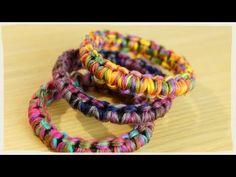 簡単ふわふわ・ボリュームのあるシュシュの作り方・編み方♪ 100均の毛糸を使用♪ 初心者さんOK!指編みでかぎ針不要!DIY scrunchie tutorial - YouTube