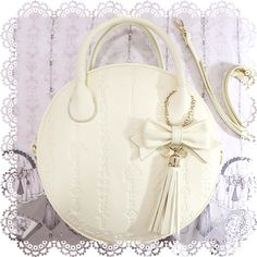 Long Ears & Sharp Ears' Studio - Ivory embossed bag