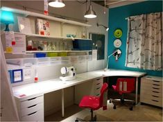 Ikea sewing table ideas sewing table sewing room ideas innovative craft room furniture ideas and sewing . Ikea Craft Room, Craft Desk, Craft Room Storage, Craft Rooms, Storage Ideas, Craft Tables, Craft Space, Sewing Room Design, Craft Room Design