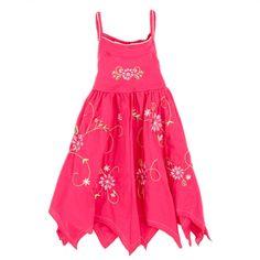 Embroidered Dress with Handkerchief Hem $11.99