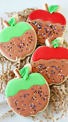 How to decorate Caramel Apple Cookies