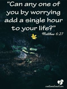As humans, we all can worry!That's a fact we all know and can agree has a huge influence in our lives, attitudes and the way we communicate. But worry is not from God. As a matter of fact, God never wants us to worry! WHY? Because God is our Provider, Answer and Healer; He is the key for our struggles, problems and obstacles. So what can we do instead of worrying? Pray, pray and again pray! You will find the answers you need in prayer that you will never find otherwise outside of God's…