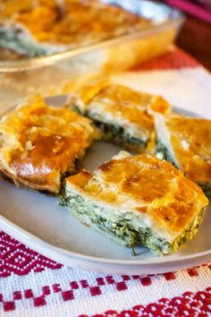 Romanian Spinach And Feta Cheese Pie - Romanian Spinach And Feta Cheese Pie, a wonderful, relatively easy recipe to make, suitable for veg - Bulgarian Recipes, Sicilian Recipes, Greek Recipes, Romanian Recipes, Turkish Recipes, Romanian Desserts, Bulgarian Food, Czech Recipes, Feta Cheese Recipes