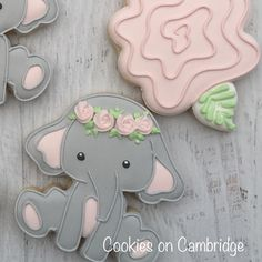 49 Super Ideas For Baby Shower Elefante Galletas Elephant Food, Elephant Cookies, Baby Girl Elephant, Elephant Baby Showers, Pink Elephant, Decoracion Baby Shower Niña, Idee Baby Shower, Baby Shower Flowers, Baby Shower Cupcakes