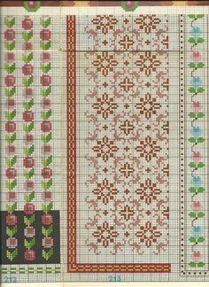 Gallery.ru / Фото #34 - diafora - ergoxeiro Cross Stitch Borders, Cross Stitch Flowers, Cross Stitching, Cross Stitch Embroidery, Embroidery Patterns, Cross Stitch Patterns, Designer Knitting Patterns, Loom Patterns, Knitting Designs