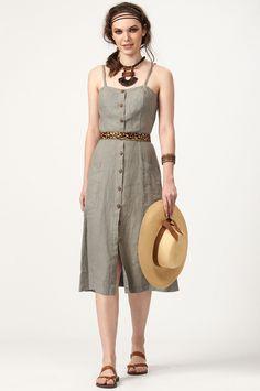 PLS fashion : Φόρεμα τιραντάκι με κουμπάκια (8133) Linen Dresses, Vintage, Style, Fashion, Swag, Moda, Fashion Styles, Vintage Comics, Fashion Illustrations