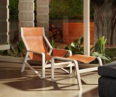 Take a load off and relax with the Toro Lounge Chair by Blu Dot. Using all natural materials, this ultra comfortable chair combines elegance and relaxation with its simplistic form.