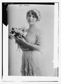 Sári Petráss (1888 – 1930) was a Hungarian operetta actress and singer.  In the 1910s and 1920s she played leading soprano parts in Budapest, Vienna, London and on Broadway. She was killed in an auto accident.