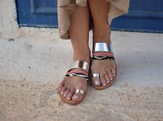 leather sandals,handmade sandals,silver leather,womens sandals,gifts,greek sandals,womens shoes,doughter sandals,sandals,mommy and me by FEDRAinspirations on Etsy