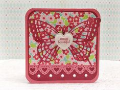 Scrapbooking card. Butterfly Marianne Design.