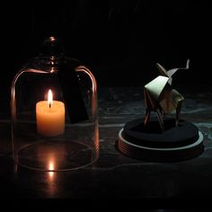 Ice and fire #1origamiaday #florigami #origami #candle #antelope