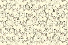 Woodland (white background) fabric by lydia_meiying for sale on Spoonflower - custom fabric, wallpaper and wall decals