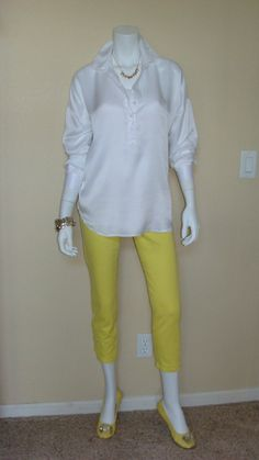 Daily Look:  CAbi Fall 12 Shirt Tunic with spring's Limon Bree Jean and a white Simple  Cami.