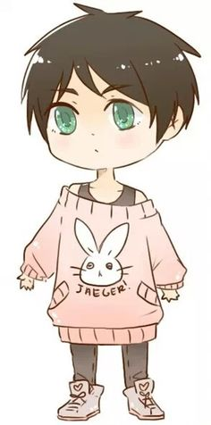 Eren Jaeger from Attack on Titan / Shingeki no Kyojin || anime kawaii boy