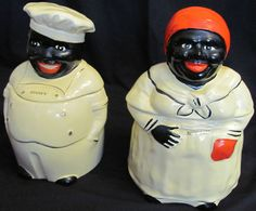 mammy & cooky black americana: when I was little my dad had the chef cookie jar in his apartment. I must have these!