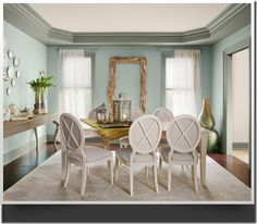 """Benjamin Moore Color...""""wythe blue."""" The most requested color from 2011. So peaceful and serene. Gorgeous."""