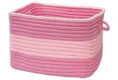 Color Block Square Basket, Pink on OneKingsLane.com
