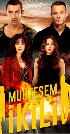 The new Turkish drama Perfect Team (Muhteşem İkili) will be broadcasted in tv channel Kanal D soon. The lead characters of Perfect Team is İbrahim Çelikkol, Kerem Bursin, Özge Gürel, and Öykü Karayel Popular Tv Series, Popular Movies, Series Movies, Movies And Tv Shows, Tango & Cash, Black And White Love, Still In Love, Handsome Actors, Drama Series