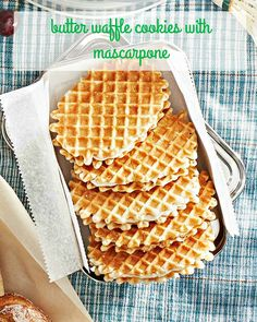 """Need to get a dessert together in a flash? Sandwich creamy mascarpone between store-bought butter waffle cookies to make """"no melt"""" ice cream sandwiches."""