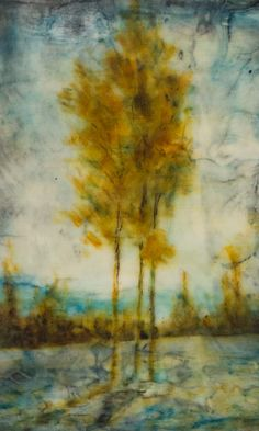 Encaustic paiting by Gail Bessette entitled Trio