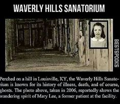 Waverly Hills Sanatorium Kentucky If you're familiar with haunted places, chances are you've probably heard of this ex Tuberculosis Hospital. There have been a TON of different investigations in Waverly Hills throughout the years. Scary Horror Stories, Short Creepy Stories, Paranormal Stories, Spooky Stories, Ghost Paranormal, Paranormal Photos, Creepy Horror, Real Ghost Stories, Creepy Facts