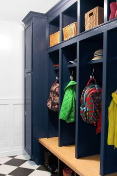 Best. Gift. Ever.  That's what this homeowner considers the custom mudroom storage unit her husband designed and built for her on her birthday.