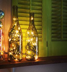 Wine Bottle Vino Lamp Light Home Decor by thedottedlinesignco, $10.99