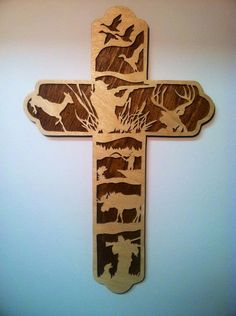 Hunter's Cross, Hunter Faith, Christian Hunter, Hunting Gift, Outdoorsman Gift                                                                                                                                                                                 More
