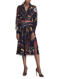 Vanessa Equestrian Dress - Collection Apparel Midi - RalphLauren.com