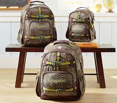 Mackenzie Brown Snakeskin Backpacks | Pottery Barn Kids