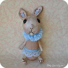 Art Doll CORSET Medium Animal Bunny Rabbit Primitive by Oddly Sweet Dolls