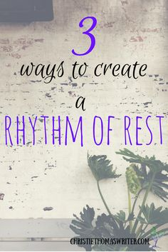 Different ways to approach cultivating Sabbath rest in your life.  via @cthomaswriter