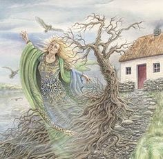 Danu is the oldest Celtic goddess.  In Celtic mythology, she was the great mother goddess of the Tuatha Dé Danann (The Tribes of Danu). Few stories about Danu have survived, and yet the reverence in which she was held still remains. Her influence spread far across the British Isles and Europe, where the Danube River was named for her.