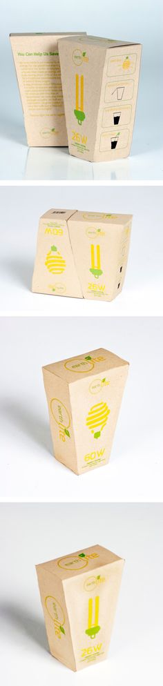 EarthLite Light bulb By Angelica Mundrick. Eco-friendly #packaging PD