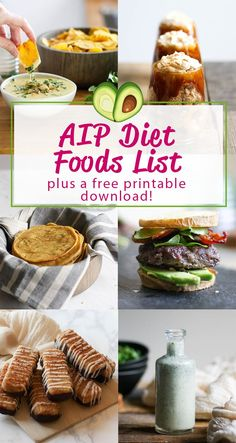 AIP Diet Food List (+ a free printable!) is part of Aip diet recipes Here& your detailed yes and no AIP Diet foods list for the autoimmune paleo protocol, with a free printable food list you can do - Dieta Aip, Diet Food List, Food Lists, Diet Foods, Diet And Nutrition, Paleo Autoinmune, Paleo Food, Paleo Meals, Healthy Food