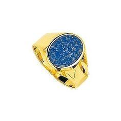 Chevalière Or jaune, chevalière pour homme, 5.10 grammes, 18 carats, tout or, lapis-lazuli http://www.princessediamants.com/article-chevaliere-homme-or-jaune-lapis-lazuli-1432.htm