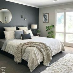 99 Delightful Bedroom Designs Ideas With Dark Wall That Breaks The Monotony In the olden days, white was the predominant paint color of choice. Homeowners choose the light color to create illusion … #bedroomdecorideas