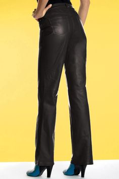 Genuine Leather Bootcut Pants: Unique & Bold Women's Clothing from #metrostyle $59.99 - $109.99