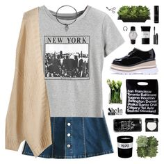 """SheIn"" by novalikarida ❤ liked on Polyvore featuring WithChic, LSA International, American Apparel, Jayson Home, Lux-Art Silks, Casetify, Bobbi Brown Cosmetics, MAKE UP FOR EVER, Smashbox and NARS Cosmetics"