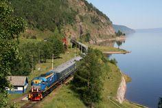 Trem Transiberiano cruza um dos trechos da viagem da 'Volta ao mundo de trem' (foto: Divulgação)