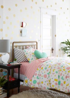 Sweet but not too saccharine for a middle-grade or pre-teen girl's room/ Oh Joy for Nod collection