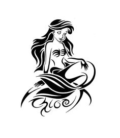 The Little Mermaid Tribal Tattoo Design